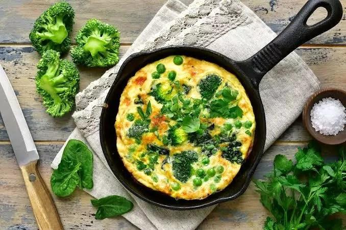 Imagem mostra omelete