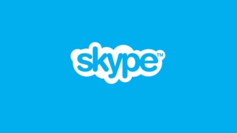 Imagem mostra o logotipo do skype chamadas de vídeo