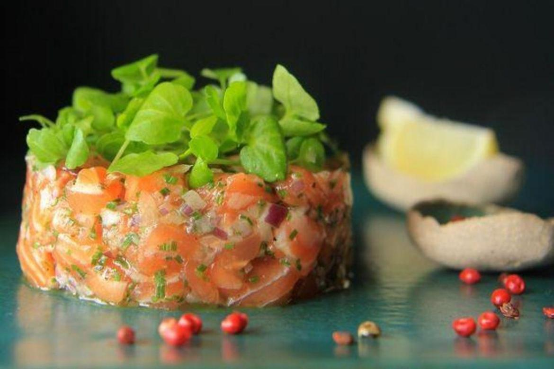 Tartar de salmãopara o dia dos pais