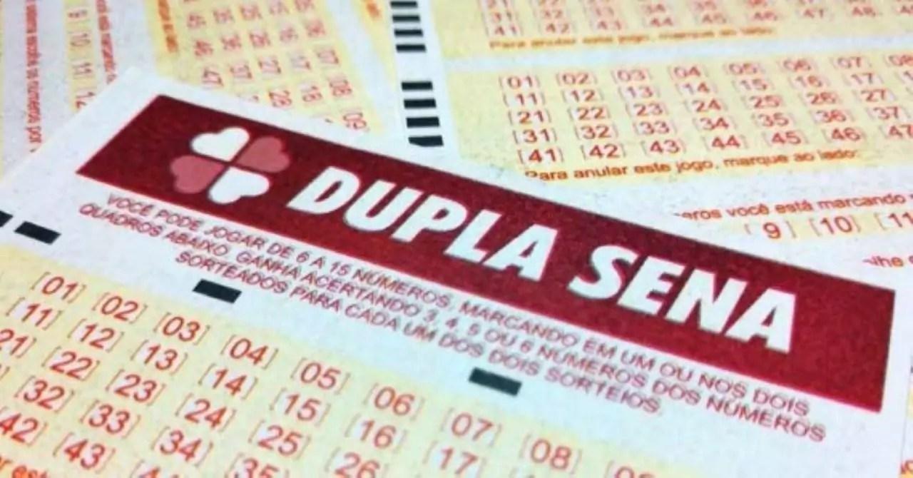 Dupla Sena 2146 - a imagem mostra uma parte do volante da Dupla Sena
