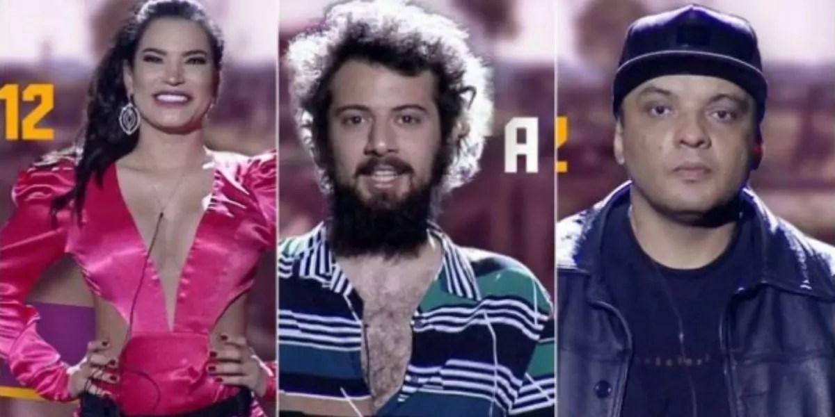 Raissa, Cartolouco e Fernandinho Beat Box posados para Enquete A Fazenda 2020