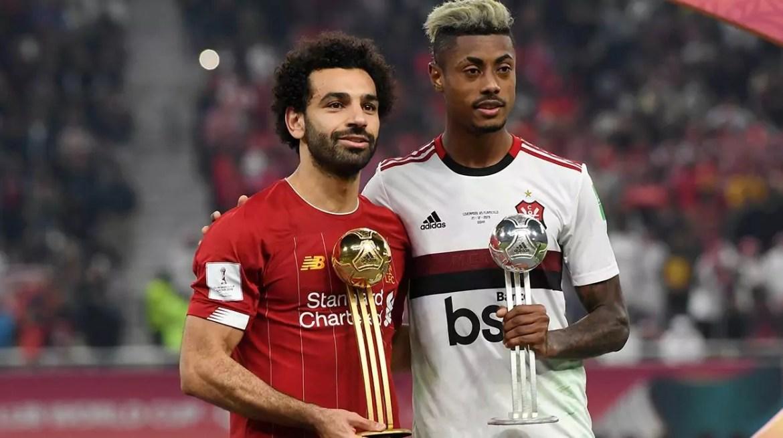 Salah e Bruno Henrique no Mundial de 2019