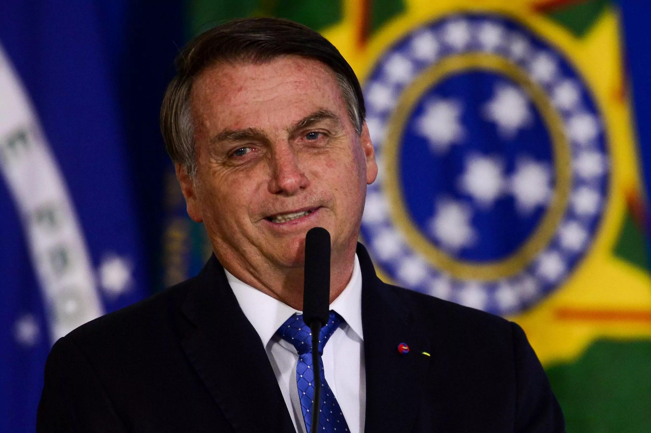 Imagem mostra Jair Bolsonaro