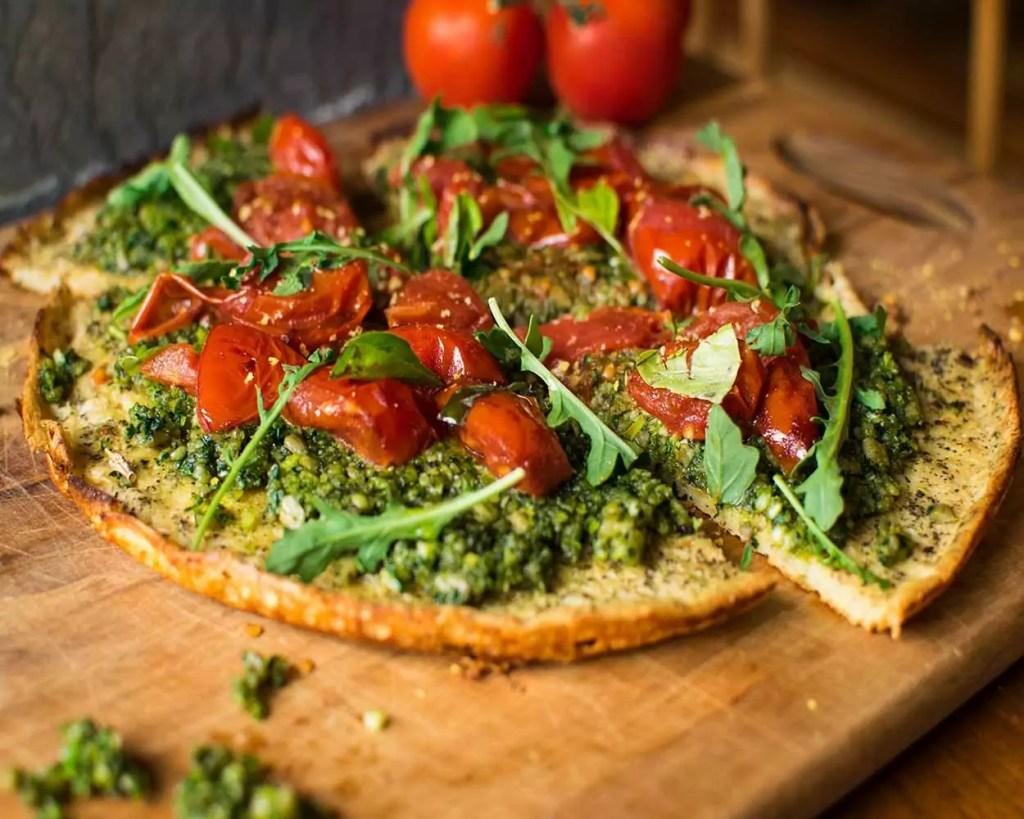 pizza fitness com legumes