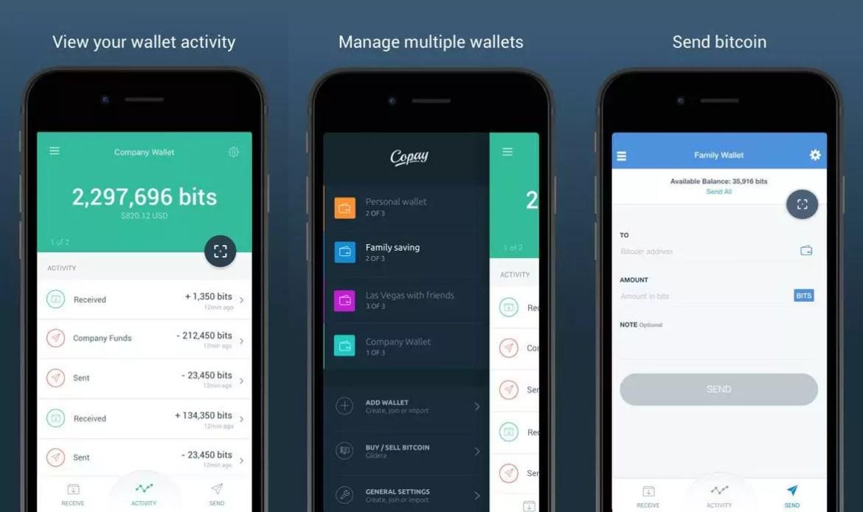 wallet, ou carteira de bitcoin em celular