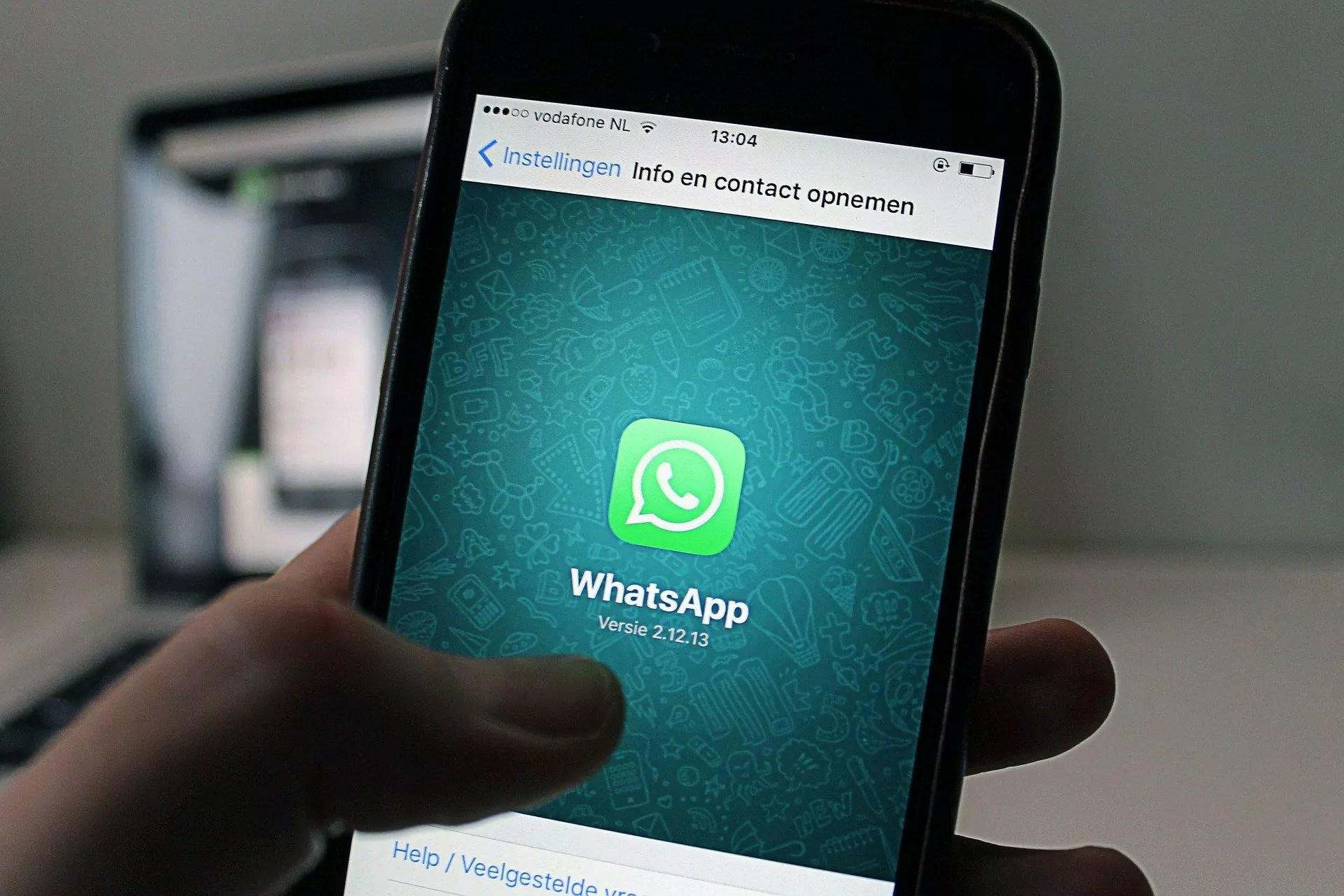 Imagem do aplicativo Whatsapp em um dispositivo móvel