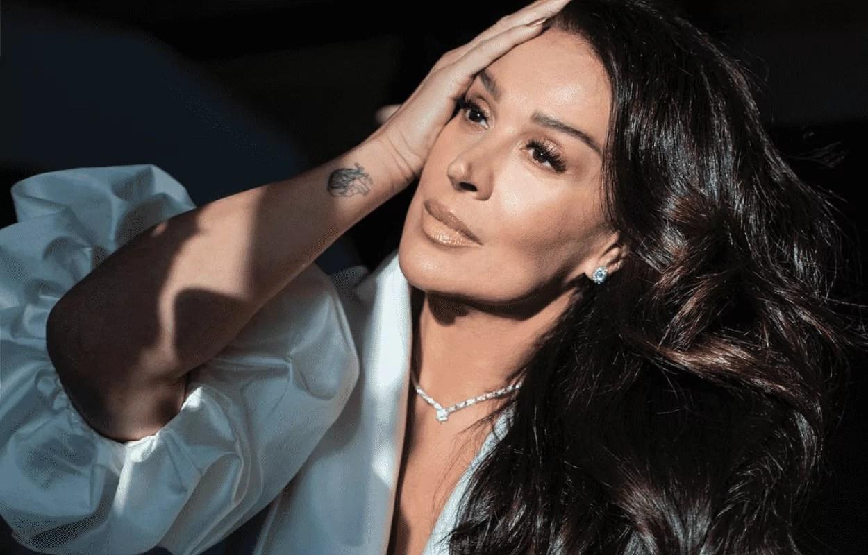 Imagem mostra rosto da atriz Claudia Raia