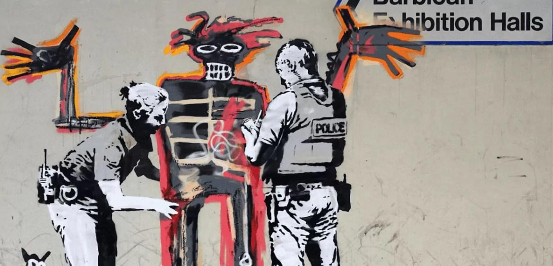Releitura de Basquiat por Banksy