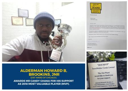 award 1 - Mr. Musah Trawill (Mr. Candy Ghana) Wins 2 Awards Within 3 Months Duration In Chicago , USA