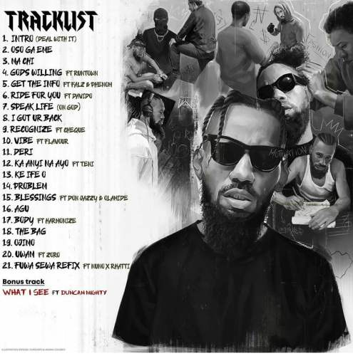 Phyno Deal tracklist 495x500 - Phyno - Deal with It (Full Album)