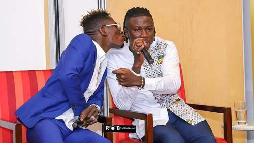 Shatta wale stonebwoy  500x281 - Stonebwoy Addresses Phone Call Allegations Made By Shatta Wale In New Tweet