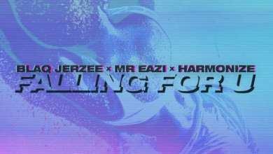 Blaq Jerzee Falling For You cover art - Blaq Jerzee - Falling For U ft. Mr Eazi & Harmonize