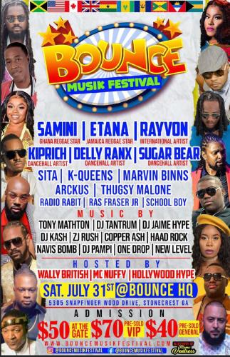 Bounce Musik Festival 323x500 - Samini to perform alongside Etana, Kiprich and others at Bounce Musik Festival