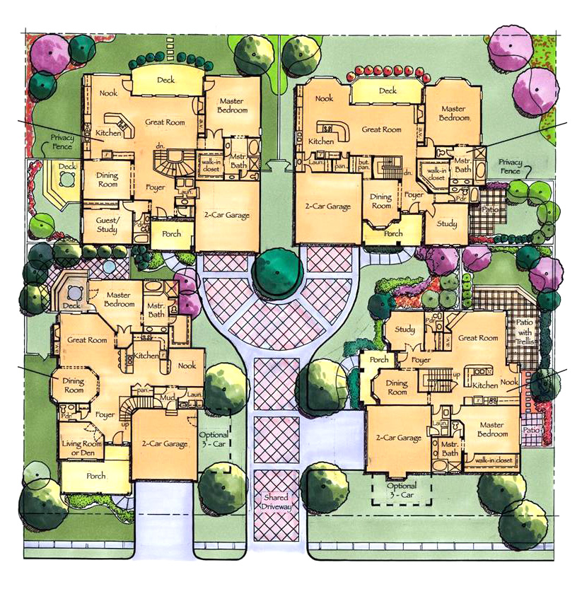 Cluster House Floor Plan: David A. Clinger & Associates