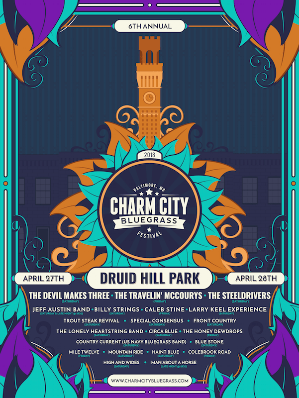 Charm City Bluegrass 2018 Poster