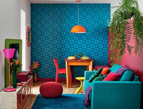 decoração colorida