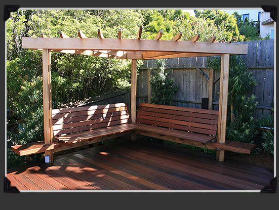 Pergolado como fazer o seu 100 fotos lindas 2017 for Small corner patio ideas