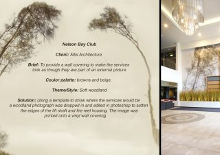 Nelson Bay Vinyl Wall Covering – A commissioned bespoke installation