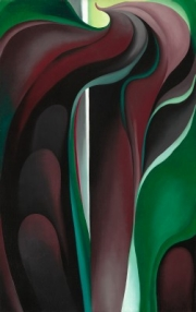Georgia O'Keeffe, Jack-in-Pulpit Abstraction - No. 5, 1930, oil on canvas, National Gallery of Art, Alfred Stieglitz Collection, Bequest of Georgia O'Keeffe, 1987.58.4