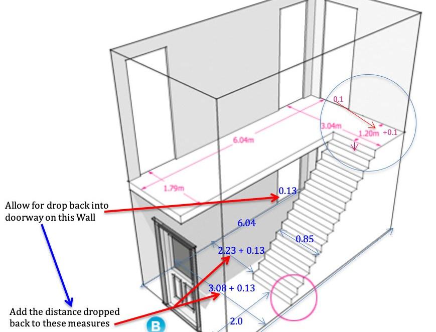 Measuring A Hall Stairs Landing Made Simple – Discount Carpet | Hall Stairs Landing Carpet | Colour | Stair Turn | Wood Floor Hallway Str*P | Twist Pile | Runners
