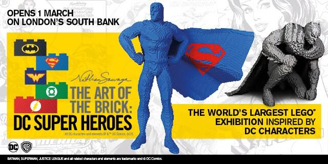 the art of the brick dc superheroes