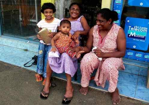 Familie in Bali