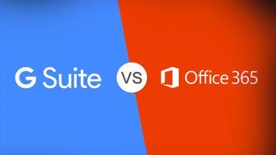 Photo of مقارنة بين Office 365 و G Suite