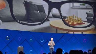 Photo of فيسبوك تكشف عن نظارات الواقع المعزز