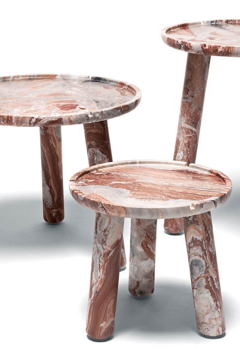 ddc stone round coffee table
