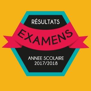 Résultats aux examens 2018