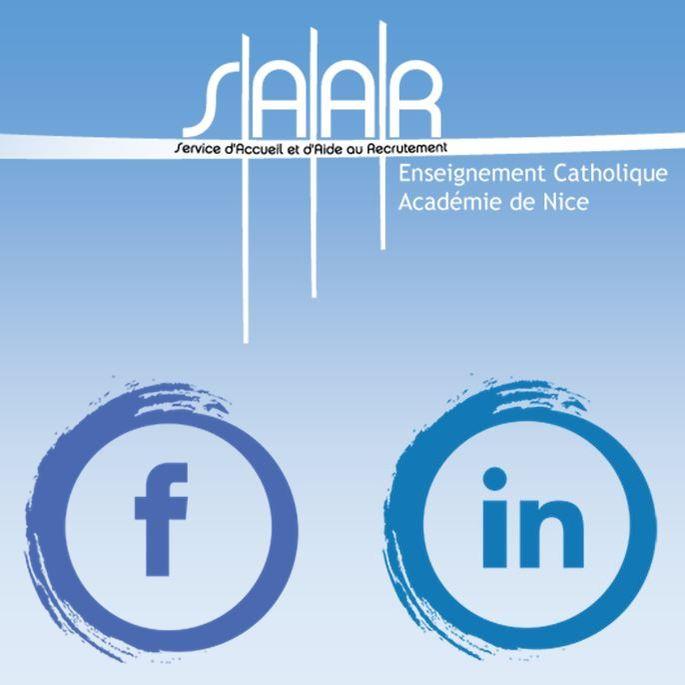 Le SAAR de l'Académie de Nice sur Facebook et sur LinkedIn