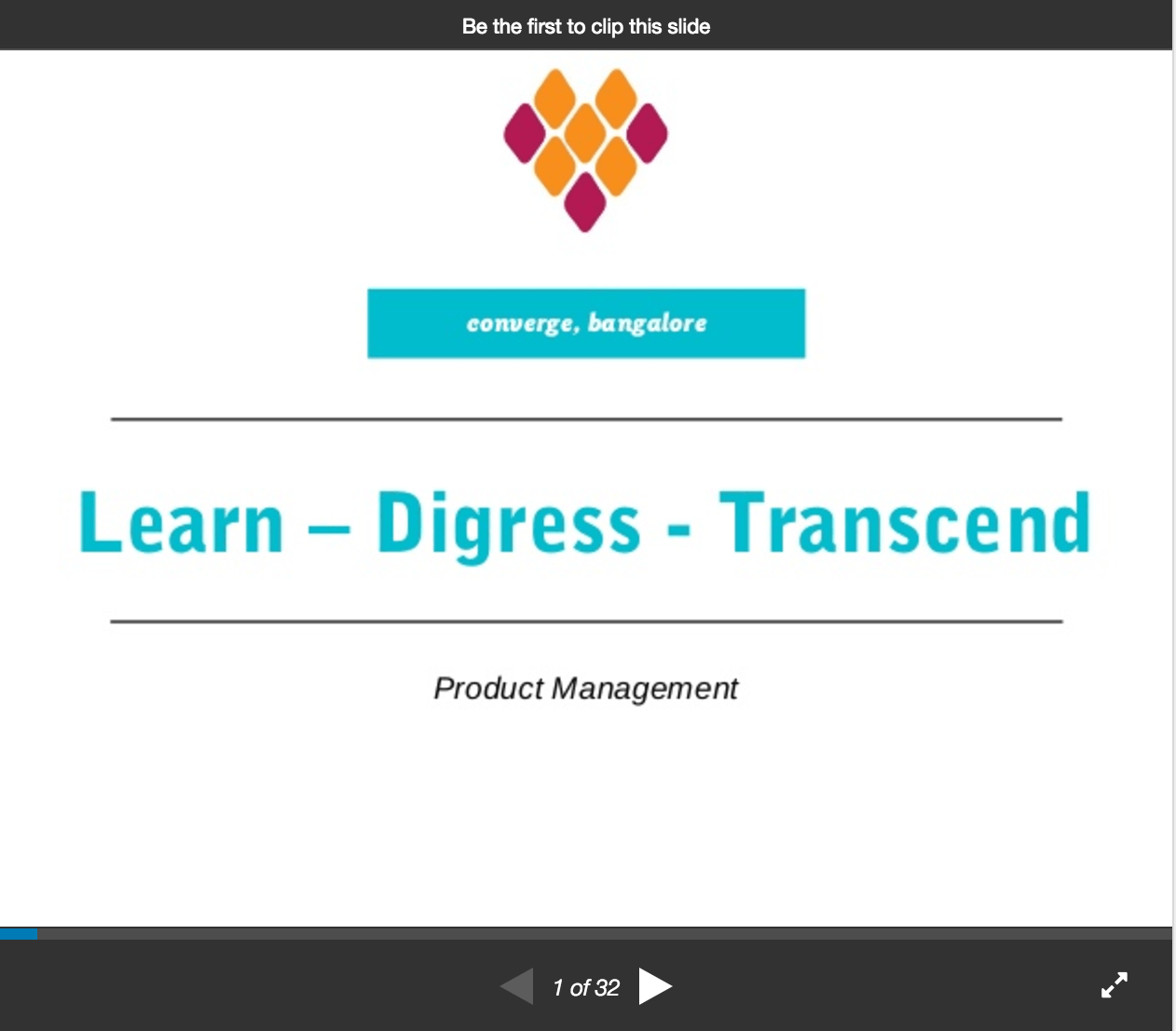 SlideShare: Shuhari – Learn – Digress – Transcend