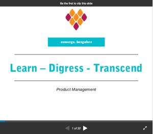 SlideShare: Shuhari – Learn – Digress – Transcend
