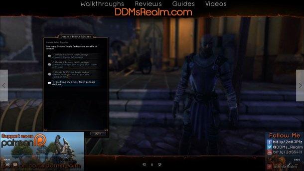 Siege of Neverwinter – Tips Tricks Walkthrough Guide - Turn In Defense Supplies