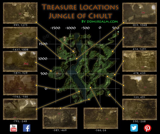 Treasure Map Locations Master Guide for the Jungle of Chult