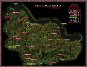 DDM's Realm DDO U16 The High Road Wilderness Map