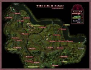 DDM's Realm DDO U16 The High Road Wilderness Map