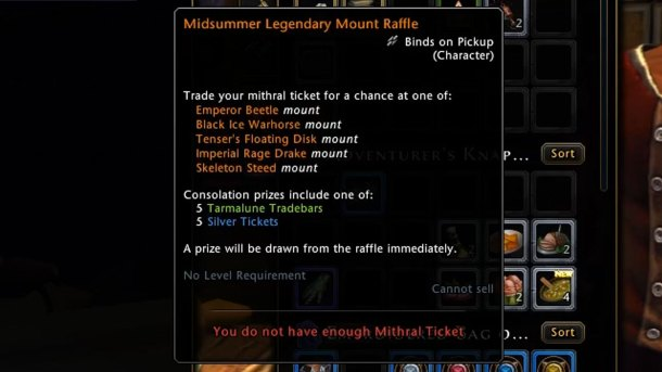 Summer Festival Legendary Mount Mithril Ticket - Sahha