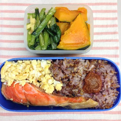 th_鮭と野菜の弁当