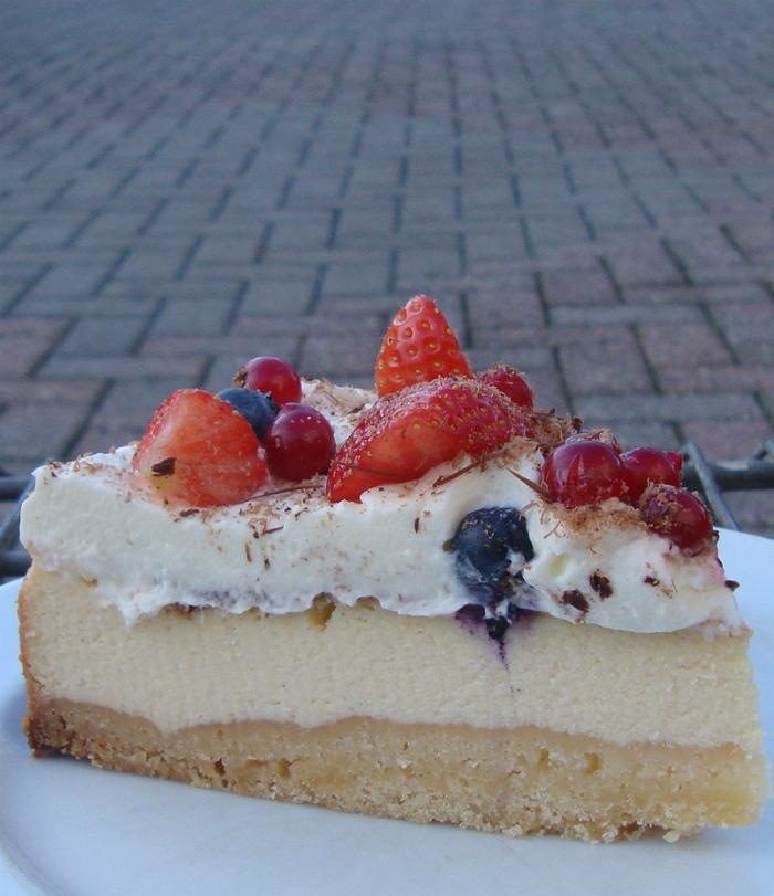 Perfecte cheesecake met boterkoekbodem