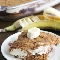 Trifle met bastogne banaan en chocolade