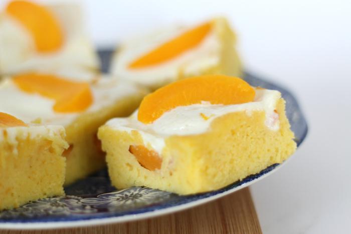 perzik-yoghurtcake met sinaasappel