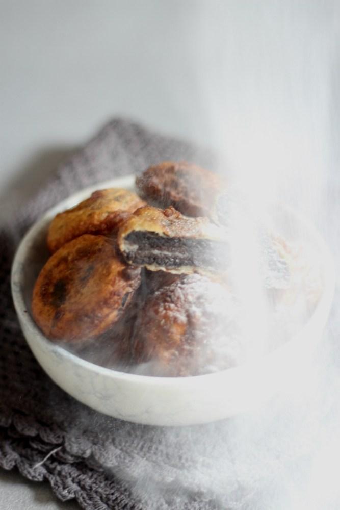 Oreo in pannenkoekenbeslag