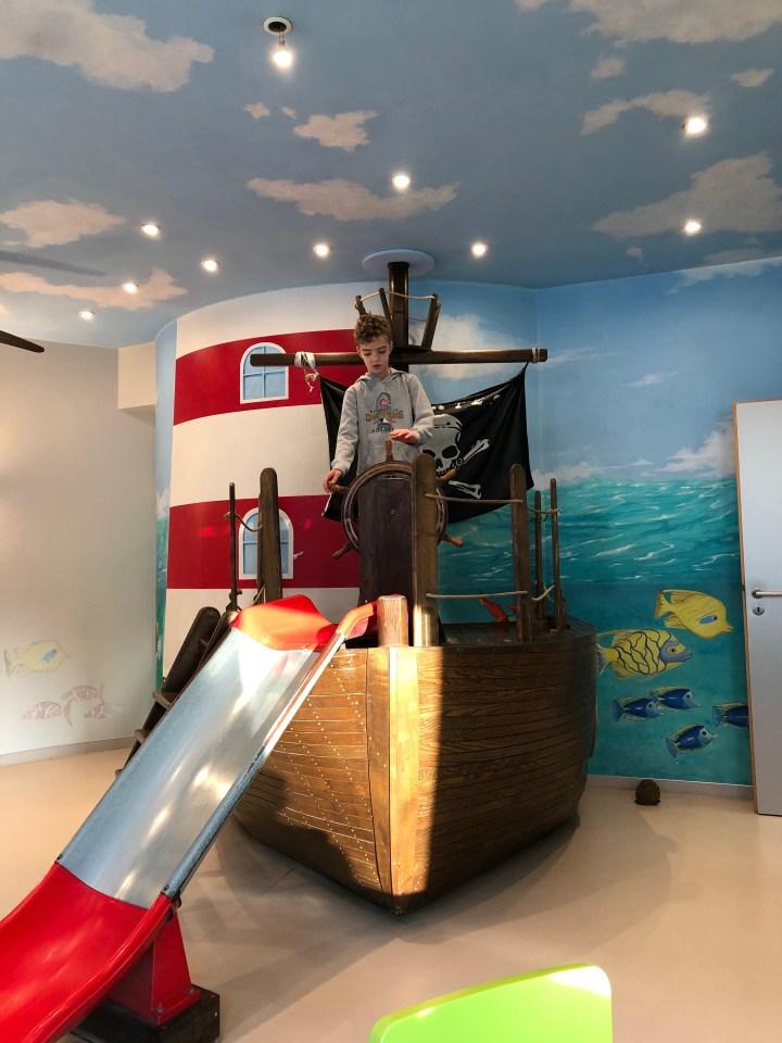Pirate ship at children's dentist
