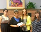 Presenting WISEPlace with a $5,000 grant to support their charitable work that provides safe, affordable transitional housing, financial-empowerment curriculum and employment assistance to help women move from homelessness and hopelessness to self-reliance.