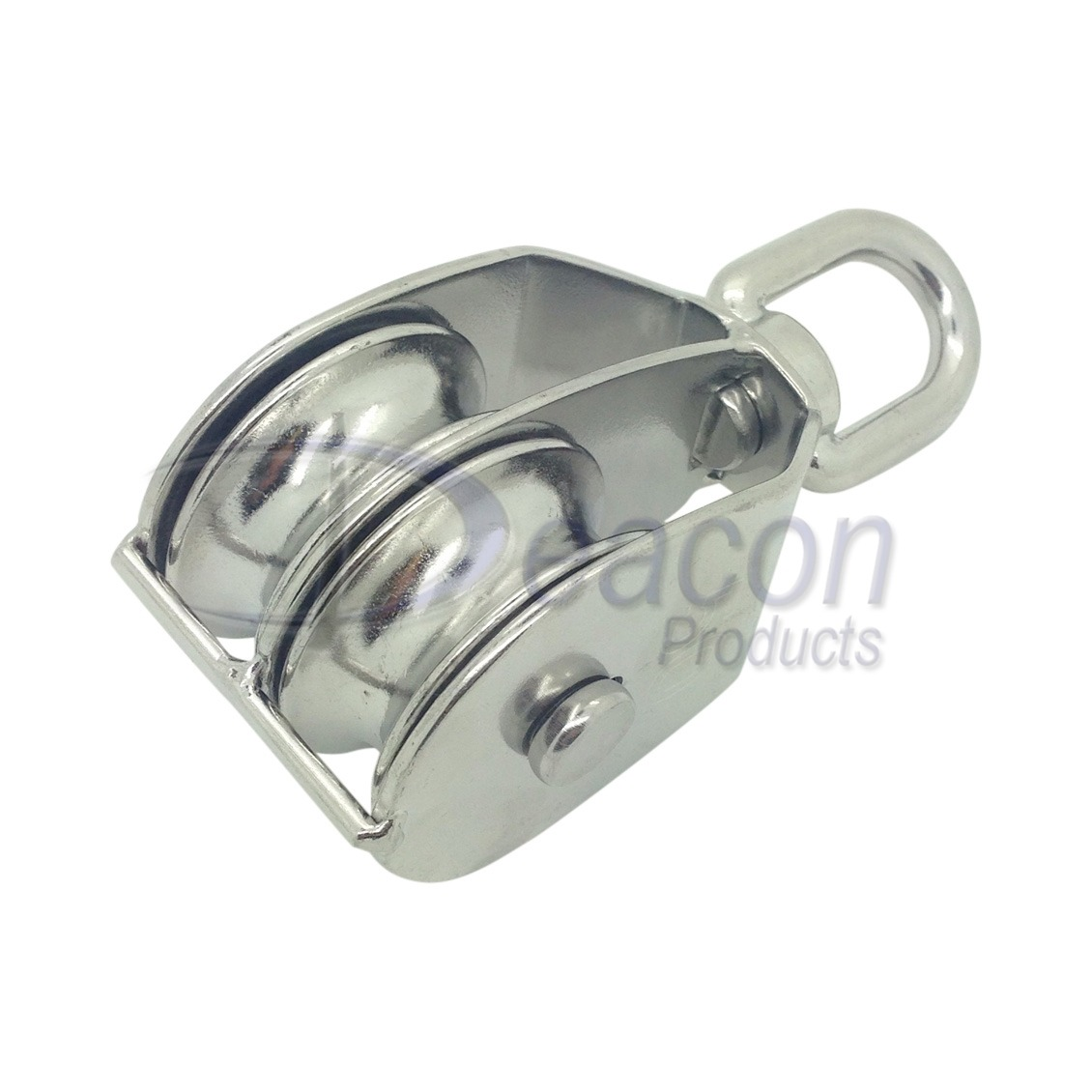 Stainless Steel Double Pulley Block With Swivel Eye – Deacon ...