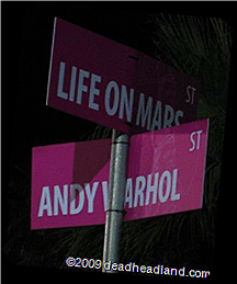 Streets named after songs, from possible Halloween albums.