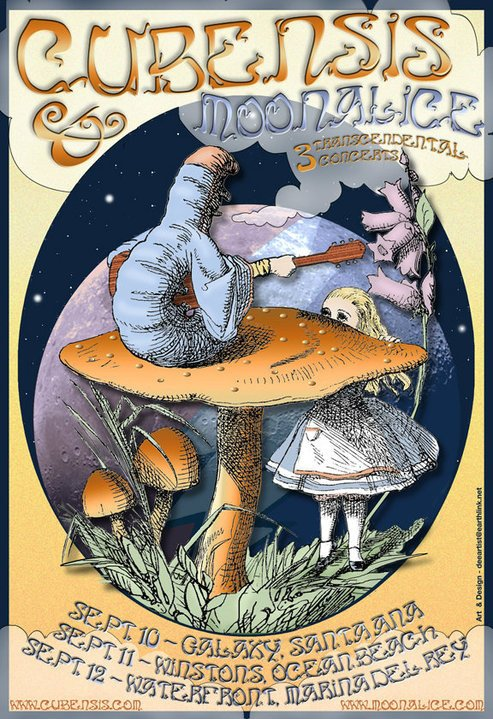 Cubensis/Moonalice Poster by D. Brenner Art and Design