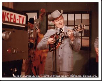 Jesse McReynolds on WSFA in Mongomery, Alabama, about 1962