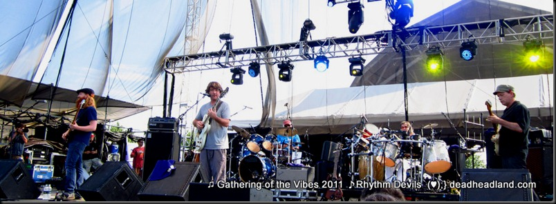 The Rhythem Devils 2011 performing at Gathering of the Vibes - Reed Mathis, Keller Williams, Bill Kreutzmann, Mickey Hart, Steve Kimock